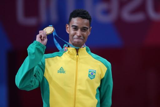 Ygor Coelho (Brasil), medalha de ouro no individual masculino do badminton nos Jogos Pan-Americanos Lima 2019. Local: Polidesportivo 3, em Videna, em Lima, no Peru. Data: 02.08.2019. Foto: Abelardo Mendes Jr/ rededoesporte.gov.br