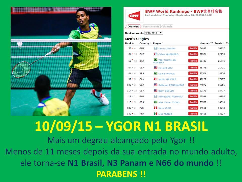 Ygor novo N1 Brasil !