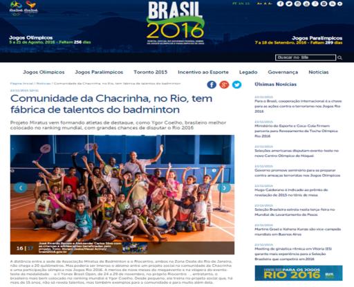 Artigo Ministerio do Esporte