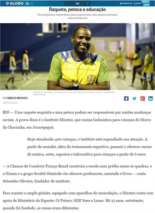 2013 07 30 O Globo