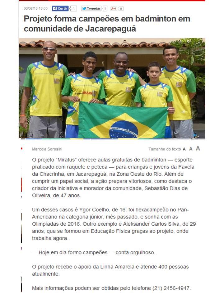 2013 08 03 Extra Globo.com