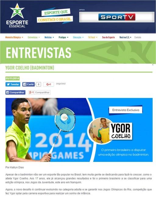 2014 11 09 Esporte Essencial