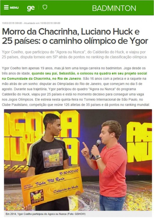 2016 03 10 Globo Esporte