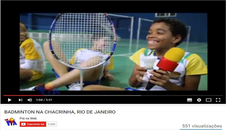 Badminton na Chacrinha - Pia
