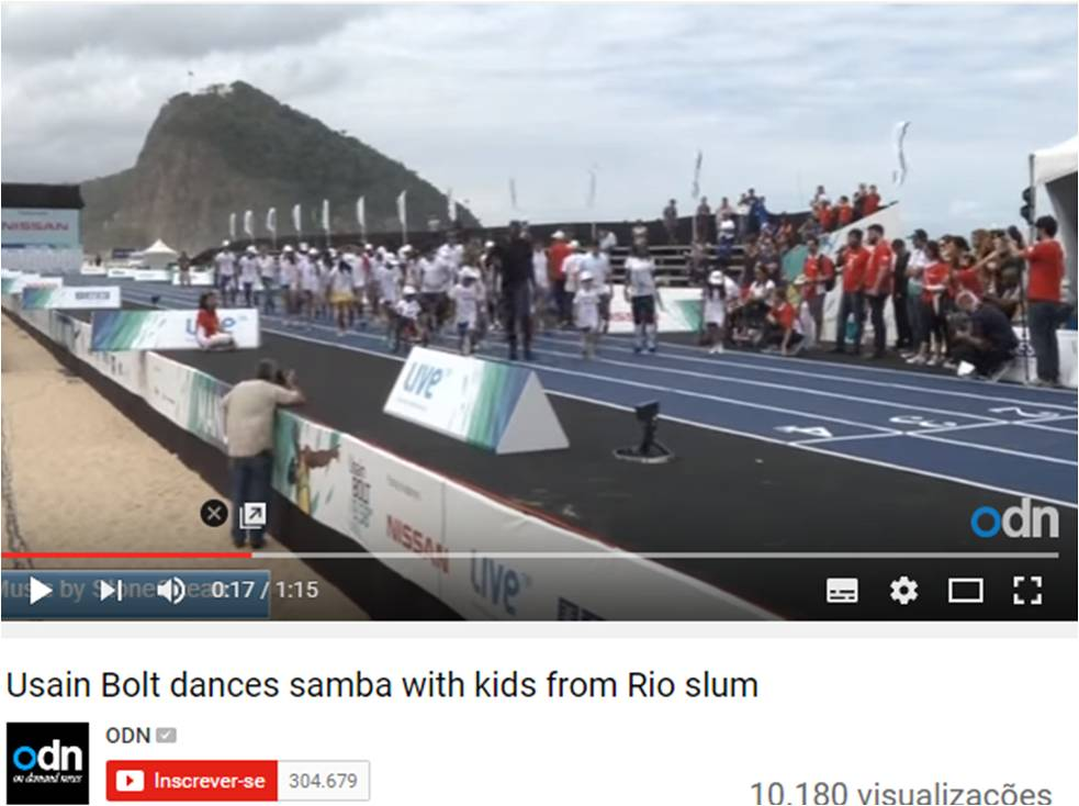 Usain Bolt dances samba with kids from Rio slum – ODN (EN) – August 2014
