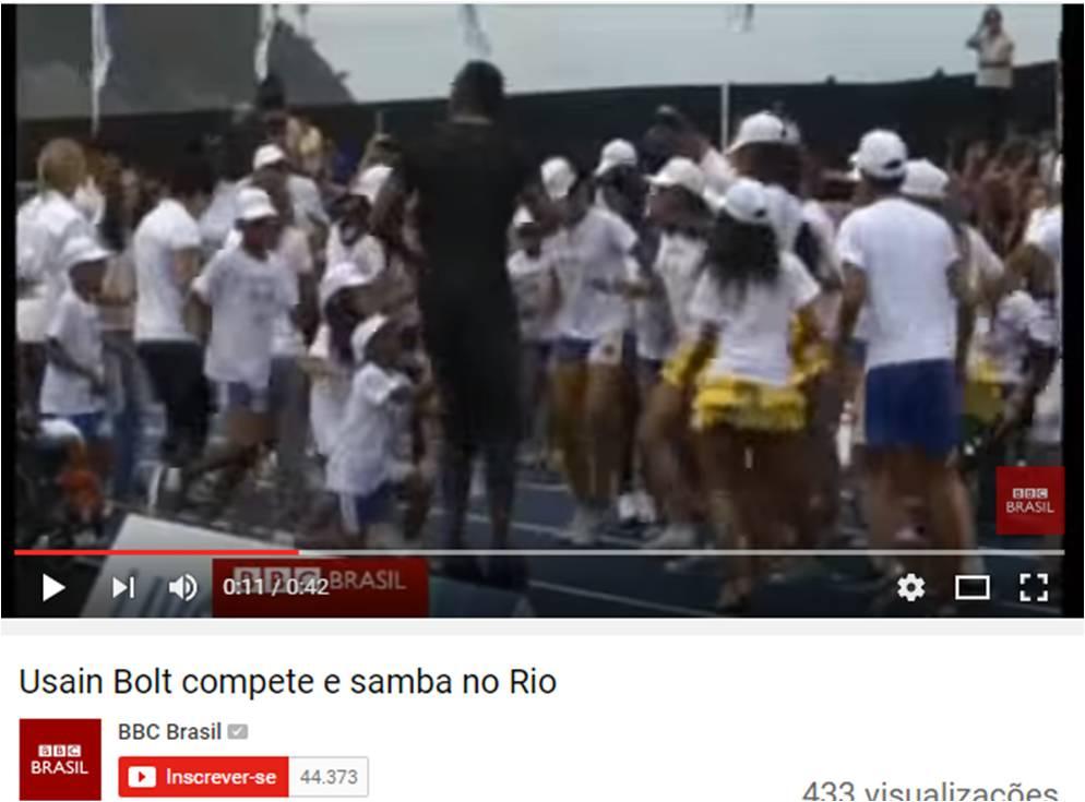 Usain Bolt compete e samba no Rio – BBC Brasil – Agosto 2014