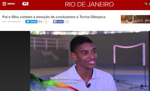 Bom dia Rio - Tocha Olimpica