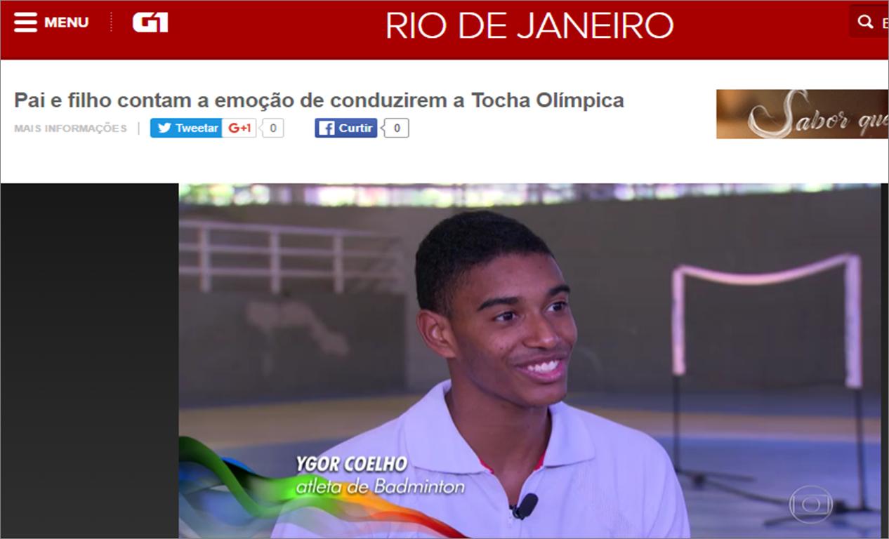 Pai e filho contam a emoção de conduzirem a Tocha Olímpica – Maio 2016