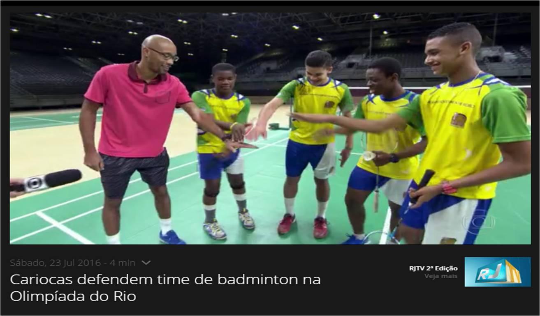 Cariocas defendem time de badminton na Olimpiada do Rio – RJ TV – Julho 2016