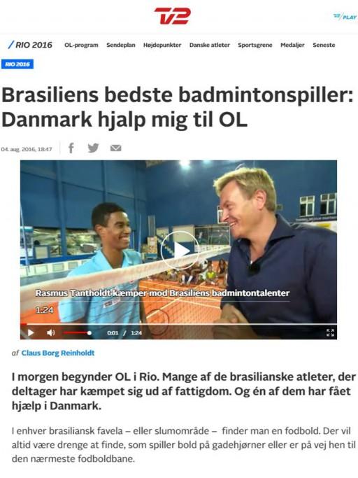 2016 08 04 Sport TV2 (DK)