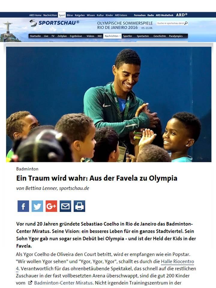 2016 08 14 Sportschau ARD (DE)