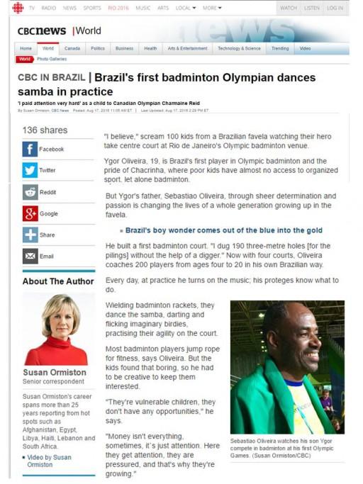 2016 08 17 CBC News (Canada)