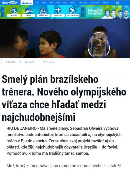 2016 08 22 Sport24.sk - Slovakia