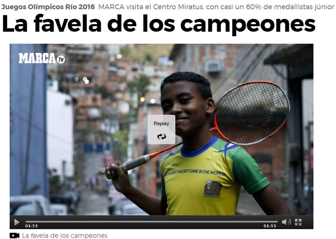 La favela de los campeones – Marca (ES) – Agosto 2016