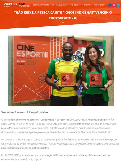 2017 10 31 Cine Esporte