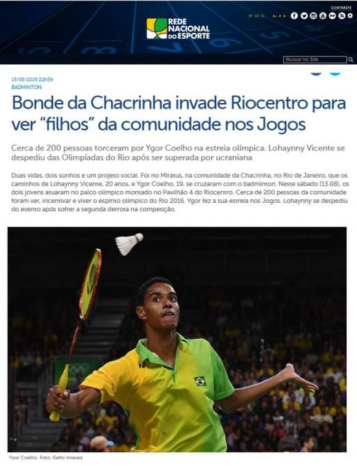 2016 08 13 Rede Nacional Esporte