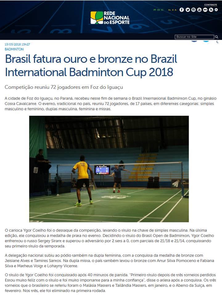 2018 03 13 Rede Nacional Esporte