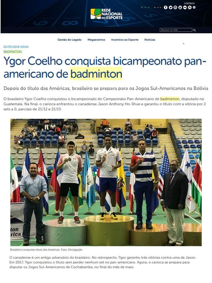 2018 05 02 Rede Nacional Esporte