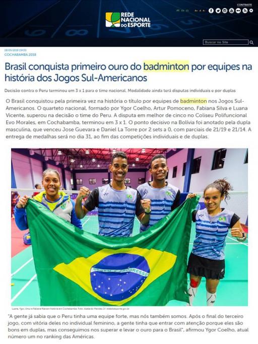 2018 05 28 Rede Nacional Esporte