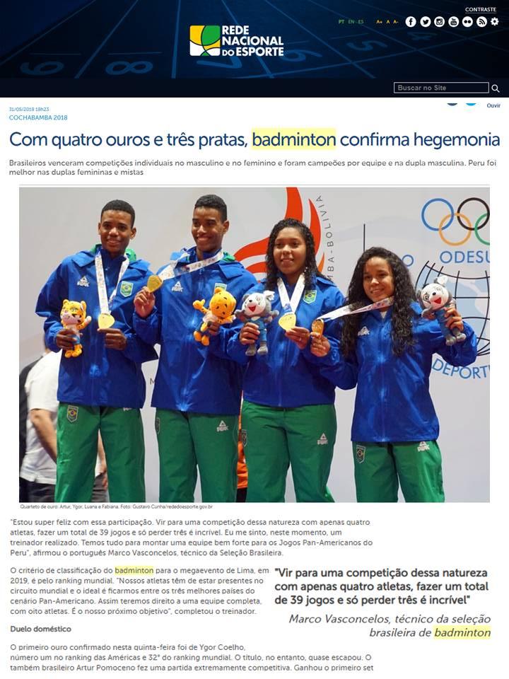 2018 05 31 Rede Nacional Esporte