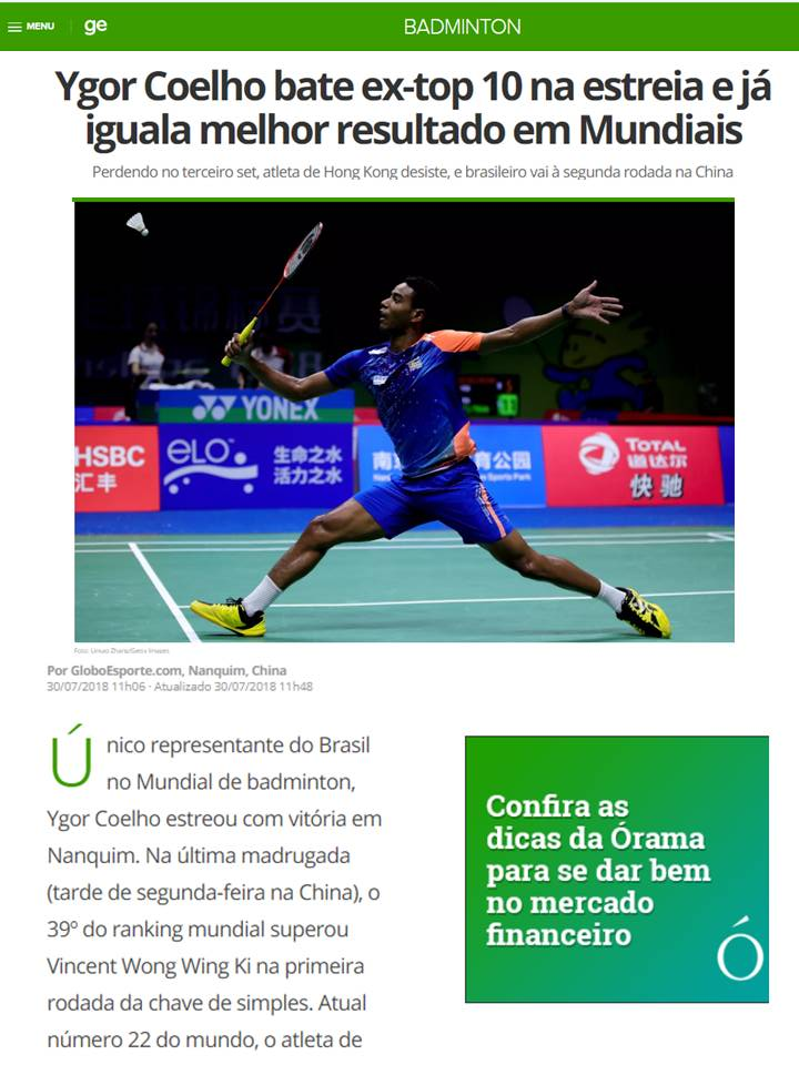 2018 07 30 Globo Esporte