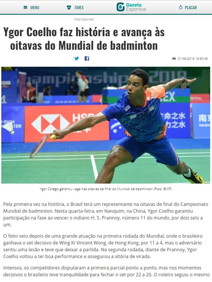 2018 08 01 Gazeta Esportiva