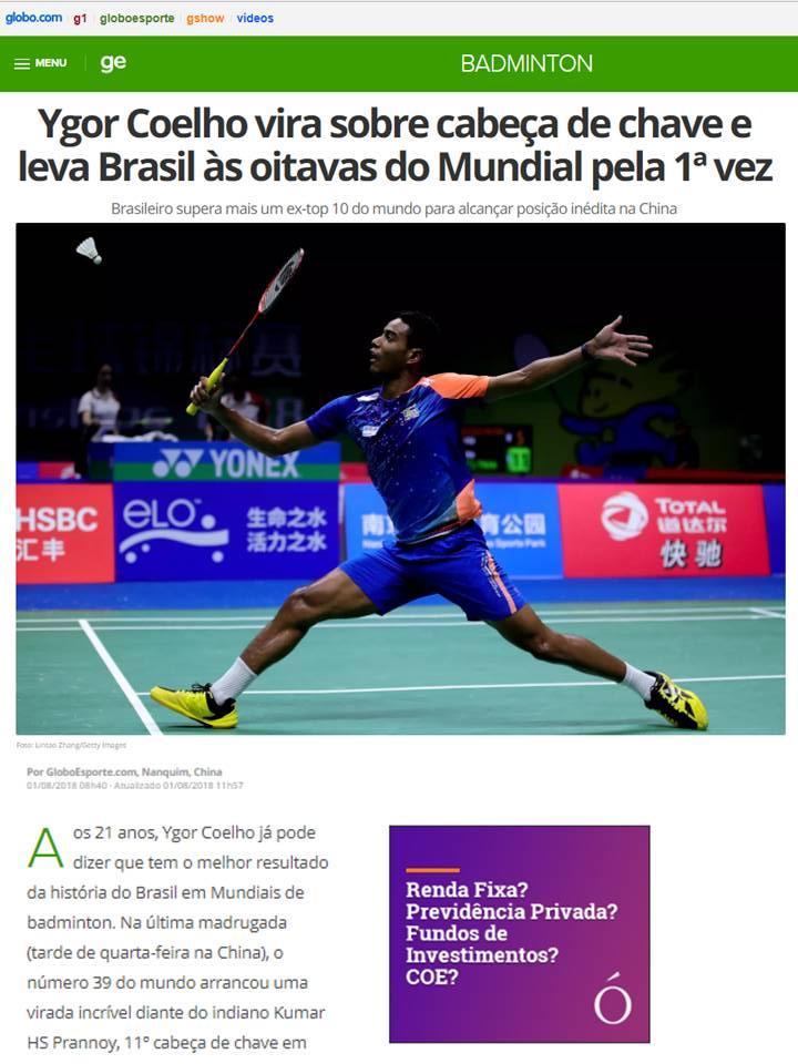 2018 08 01 Globo Esporte