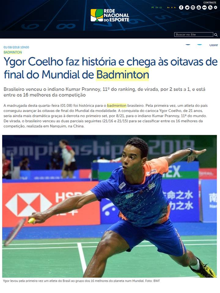 2018 08 01 Rede Nacional Esporte