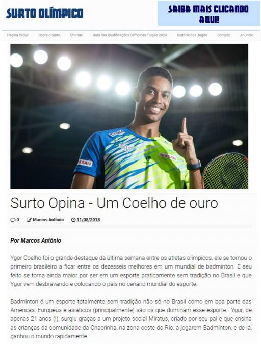 2018 08 11 Surto Olimpico