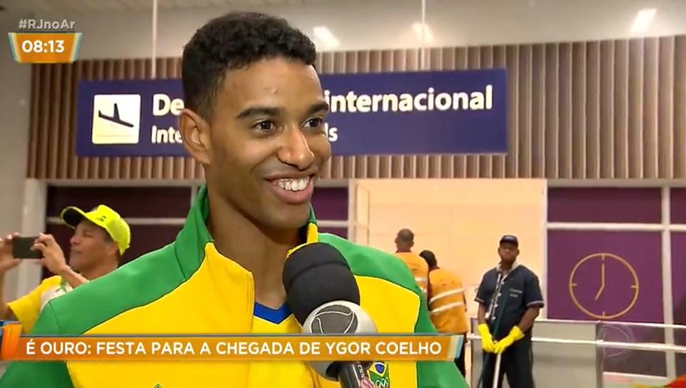 CARIOCA RECEBIDO COM FESTA NO RIO – RECORD TV – AGO 2019
